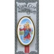 """St.Christopher Visor Clip mm.50 - 2"""""""