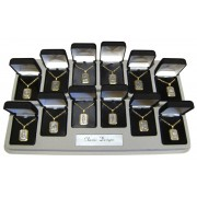 "Rectangle Medals Assorted mm.25 - 1"" 12 Piece Display"