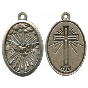 Holy Spirit Oxidized Oval Medal mm.22- 7/8""