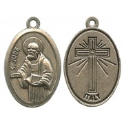 """St.Jude Oxidized Oval Medal mm.22- 7/8"""""""