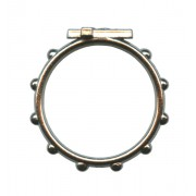 """Rosary Ring Oxidized Metal mm.16 - 5/8"""""""