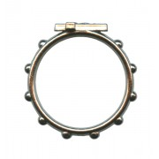 """Rosary Ring Oxidized Metal mm.18- 11/16"""""""