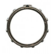 """Turning Rosary Ring Oxidized Metal mm.20 - 3/4"""""""