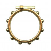 """Rosary Ring Gold Plated mm.16- 5/8"""""""