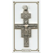 "St.Damian Pocket Cross Latin Inscription mm.38 - 1 1/2"""