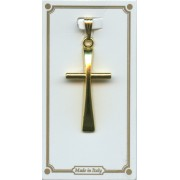 """Cross Pendent Gold Plated mm.30 - 1 1/4"""""""