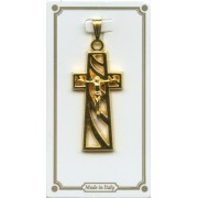 """Crucifix Pendent Gold Plated mm.30 - 1 1/4"""""""