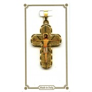 """Gold Plated Cross with Jesus mm.30 - 1 1/4"""""""