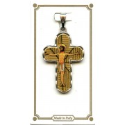 """Silver Plated Cross with Jesus mm.30- 1 1/4"""""""