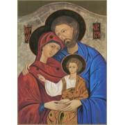 """Icon Holy Family Plaque cm.31x20.5 - 12 1/4""""x 8 1/8"""""""