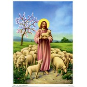 "Jesus Shepherd Print cm.19x26 - 7 1/2""x 10 1/4"""
