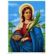 """St.Lucy Print cm.19x26 - 7 1/2""""x 10 1/4"""""""