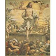 "Resurrection Plaque cm.25.5x20.5 - 10""x8 1/8"""