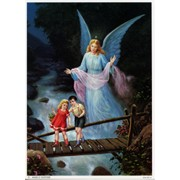 "Guardian Angel Print cm.19x26 - 7 1/2""x 10 1/4"""