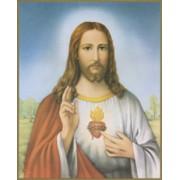 "Sacred Heart of Jesus Plaque cm25.5x20.5 - 10""x8 1/8"""