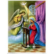 "Annunciation Print cm.19x26 - 7 1/2""x 10 1/4"""