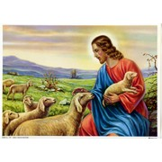 "Good Shepherd Print cm.19x26 - 7 1/2""x 10 1/4"""