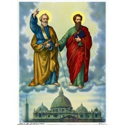 """St.Peter and St.Paul Print cm.19x26 - 7 1/2""""x 10 1/4"""""""