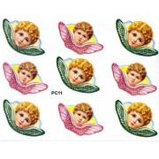 "Angels 9 Stickers cm.12x16 - 5""x6"""