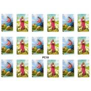 """Jesus Shepherd 18 Stickers cm.12x16 - 5""""x6"""""""