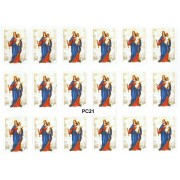 """Our Lady Helper of Christians 18 Stickers cm.12x16 - 5""""x6"""""""
