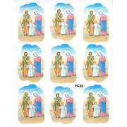 "Holy Family 9 Stickers cm.12x16 - 5""x6"""