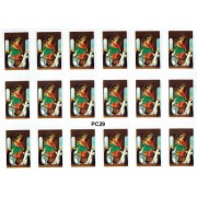 """Our Lady of the Rosary 18 Stickers cm.12x16 - 5""""x6"""""""