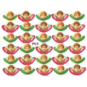 "Angels 30 Stickers cm.12x16 - 5""x6"""