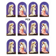 """Guardian Angel 12 Stickers cm.12x16 - 5""""x6"""""""