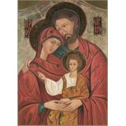 """Icon Holy Family Plaque cm.31x20.5 - 12 1/4""""x8 1/8"""""""
