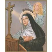 """St.Rita Plaque cm.25.5x20.5 - 10""""x8 1/8"""""""