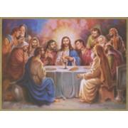 """Last Supper Plaque cm.25.5x20.5 - 10""""x8 1/8"""""""