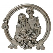 Holy Family Pewter Medal cm.5 - 2""
