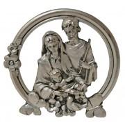 """Holy Family Pewter Medal cm.5 - 2"""""""