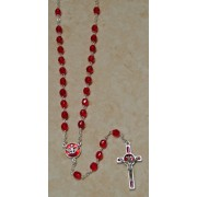 Holy Spirit Bohemia Crystal Rosary Ruby Simple Link 5mm