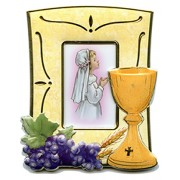 """Communion Picture Frame Girl cm.12.5x10 - 4 3/4x 4"""""""