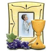 """Communion Picture Frame Boy cm.12.5x10 - 4 3/4x 4"""""""
