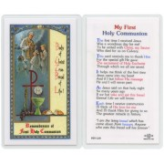 "My First Communion English Text Prayer Card cm.6.6x 11.5 - 2 1/2""x 4 1/2"""