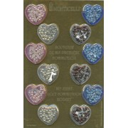 12 Piece Display of Assorted Communion Rosaries with Heart Boxes