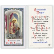 "Communion Prayer Boy English Text Prayer Card cm.6.6x 11.5 - 2 1/2""x 4 1/2"""