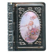 "Metal Box Booklet Large Baptism cm.6.5x5.5 - 2 1/2""x 2 1/4"""