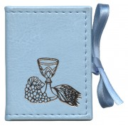 "Mini Communion Book Box Velvet Blue cm.7x5.5 - 2 3/4""x2 1/4"""