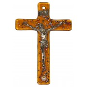 """Topaz Murano Crucifix cm.6.5x10.5 x 2 1/2"""" x 4"""""""