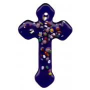 "Cobalt Murano Cross Long cm.4- 1 3/4"""
