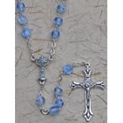 Communion Rosary Blue 6mm