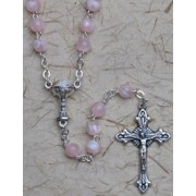 Communion Rosary Pink 6mm