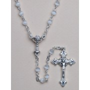 Communion Moonstone Rosary Simple Link 4mm White