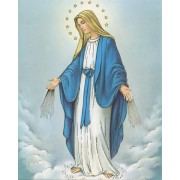 """Immaculate Conception High Quality Print with Gold cm.20x25- 8""""x10"""""""
