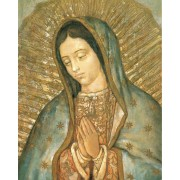 """Guadalupe High Quality Print with Gold cm.20x25- 8""""x10"""""""
