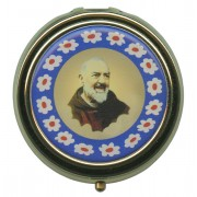 Padre Pio Metal Gold Plated Pyx mm.50- 2""